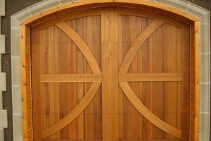 Carriage Series custom design wood garage door