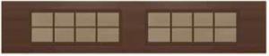 Windows with Expresso Frame - Bronze Tint Glass & Stanton Bronze Muntin Bars