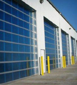 Aluminum garage door with Polycarbonate