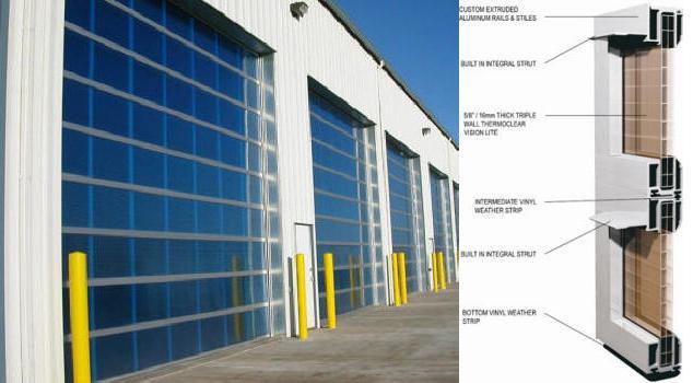 Aluminum Garage Door With Polycarbonate The Door House Inc