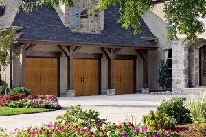 Classica Series faux wood garage doors