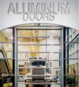 Aluminum garage doors with glass