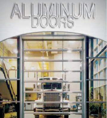 Aluminum garage doors with glass
